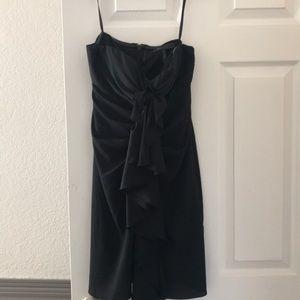 BCBG Strapless black dress
